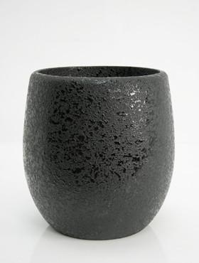 callisto-vase-structur-round-svart-19135